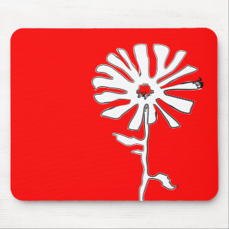 squiggle flower mouse pad