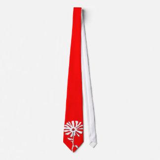 squiggle flower tie