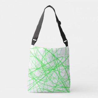 Squiggle Green Crossbody Bag
