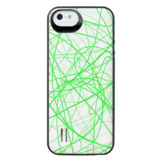 Squiggle Green iPhone SE/5/5s Battery Case