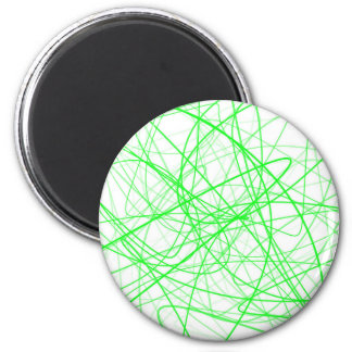 Squiggle Green Magnet