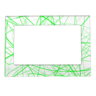 Squiggle Green Magnetic Picture Frames