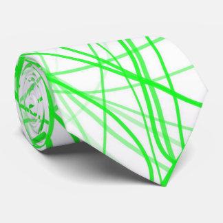 Squiggle Green Neck Tie