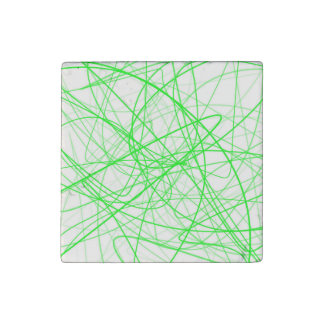 Squiggle Green Stone Magnet
