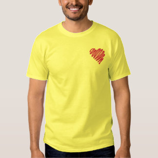 Squiggle Heart Embroidered T-Shirt