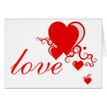 squiggle hearts. greeting card