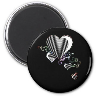 squiggle hearts magnet