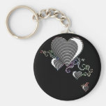 squiggle hearts. put a spell on me. key chain