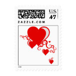 squiggle hearts. stamp