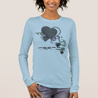 squiggle hearts. trance. long sleeve T-Shirt