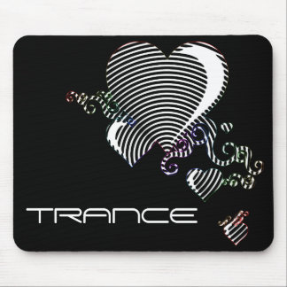 squiggle hearts. trance. mouse pad