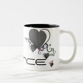 squiggle hearts. trance. coffee mugs