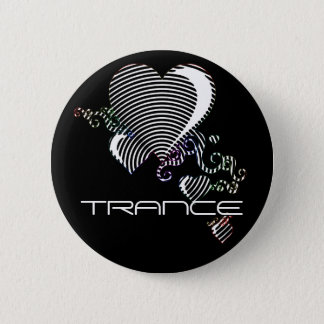 squiggle hearts. trance. pinback button