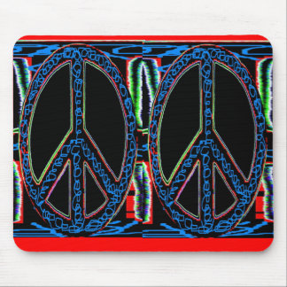 Squiggle Peace Mouse Pad