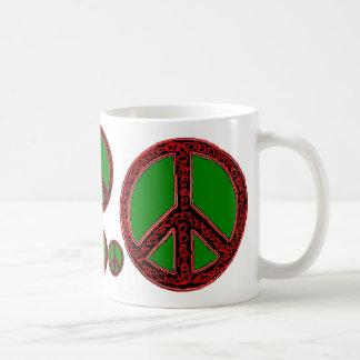Squiggle Peace Classic White Coffee Mug