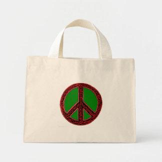 Squiggle Peace Sign Mini Tote Bag