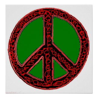Squiggle Peace Sign Poster
