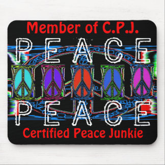 Squiggle Peace Sign Windows Mouse Pad