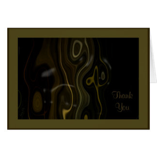 Squiggle Wood ~ Olive Card