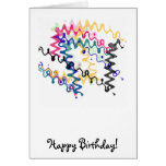 Squiggle Zigzags Happy Birthday Card