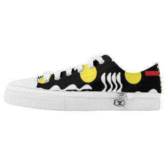 Squiggles geometric design sneakers