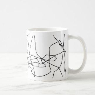 squiggles lines mug