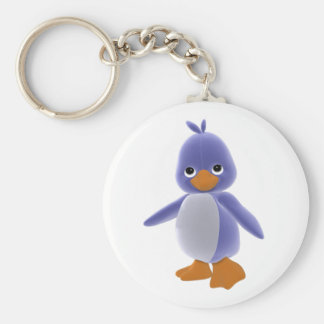 Squiggles Penguin Keychain