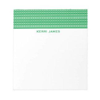 Squiggles verdes bloc de papel