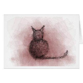 Squiggly Cat Card