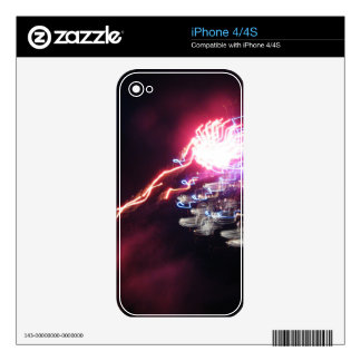 Squiggly Gleam iPhone 4 Skin