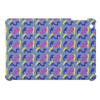 Squiggly Line Doodle Pattern Blue Grey Smooth Case For The iPad Mini