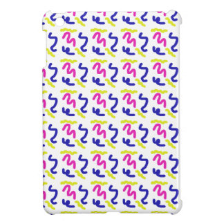 Squiggly Line Doodle Pattern Case For The iPad Mini