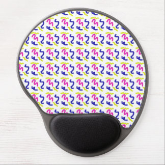 Squiggly Line Doodle Pattern Gel Mouse Pad