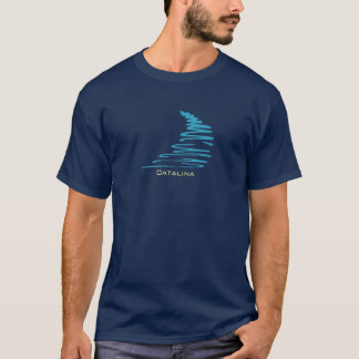 Squiggly Lines_Aqua Glow_Catalina T-Shirt