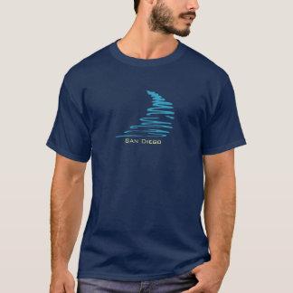 Squiggly Lines_Aqua Glow_San Diego T-Shirt