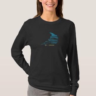 Squiggly Lines_Aqua Glow_St. Croix T-Shirt