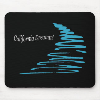 Squiggly Lines_California Dreamin'_Aqua Mouse Pad