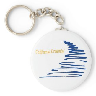Squiggly Lines_California Dreamin' keychain keychain