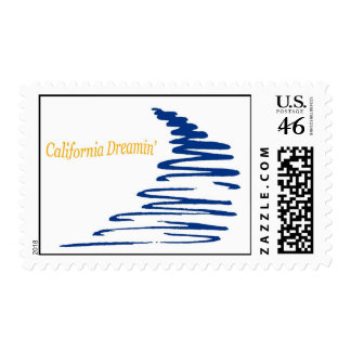 Squiggly Lines_California Dreamin postage