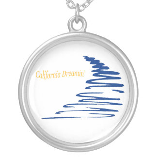 Squiggly Lines_California Dreamin' Silver Plated Necklace