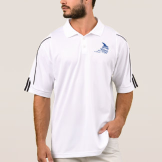Squiggly Lines _Go with the flow_Squiggle only Polo T-shirt
