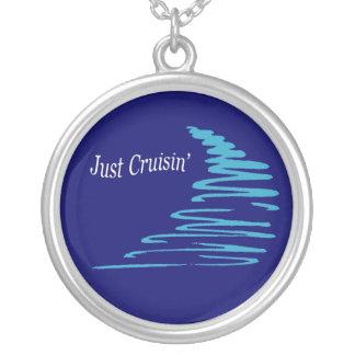 Squiggly Lines_Just Cruisin'_Aqua necklace pendant