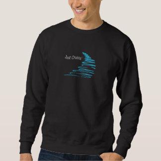 Squiggly Lines_Just Cruisin'_Aqua Sweatshirt