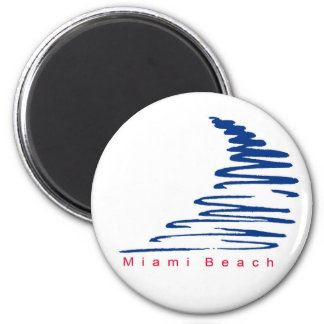 Squiggly Lines_Miami Beach magnet
