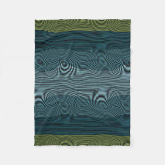 Squiggly Lines Optical Illusion No. 1 Blanket Fleece Blanket