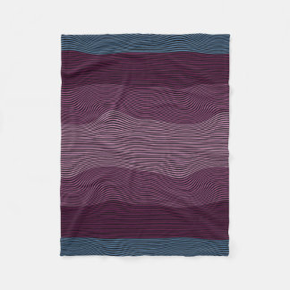 Squiggly Lines Optical Illusion No. 2 Blanket Fleece Blanket