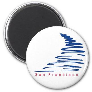 Squiggly Lines_San Franscisco magnet