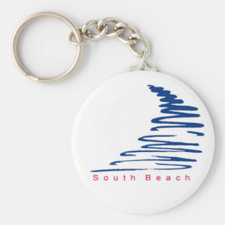 Squiggly Lines_South Beach keychain