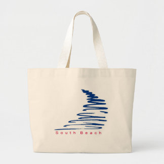 Squiggly Lines_South Beach Large Tote Bag