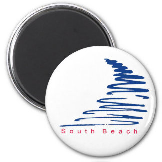 Squiggly Lines_South Beach magnet